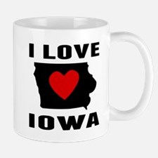 I Love Iowa Mugs