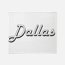 Dallas Classic Style Name Throw Blanket