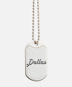Dallas Classic Style Name Dog Tags