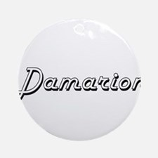 Damarion Classic Style Name Ornament (Round)