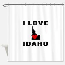 I Love Idaho Shower Curtain