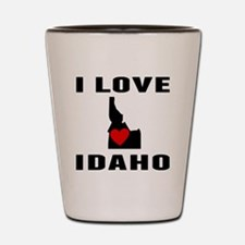 I Love Idaho Shot Glass