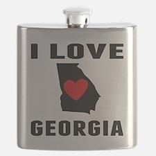 I Love Georgia Flask