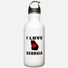 I Love Georgia Water Bottle