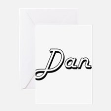 Dan Classic Style Name Greeting Cards