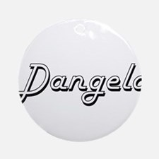 Dangelo Classic Style Name Ornament (Round)