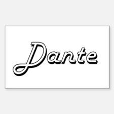 Dante Classic Style Name Decal