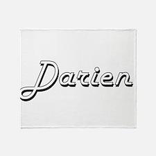 Darien Classic Style Name Throw Blanket