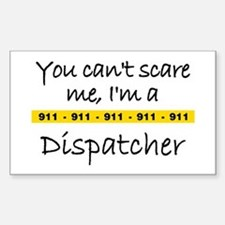 Police Tape Dispatcher Rectangle Decal