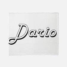Dario Classic Style Name Throw Blanket