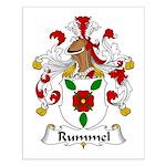 Rummel Family Crest  Small Poster