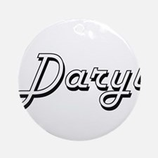 Daryl Classic Style Name Ornament (Round)