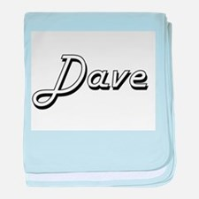 Dave Classic Style Name baby blanket