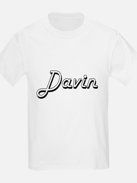 Davin Classic Style Name T-Shirt