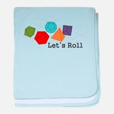 Lets Roll baby blanket
