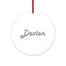 Davion Classic Style Name Ornament (Round)