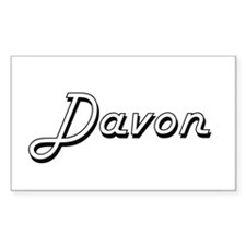 Davon Classic Style Name Decal