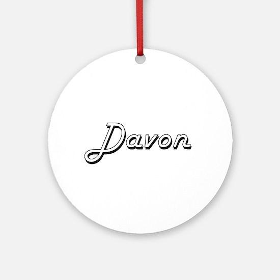 Davon Classic Style Name Ornament (Round)