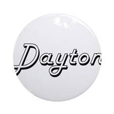 Dayton Classic Style Name Ornament (Round)