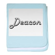 Deacon Classic Style Name baby blanket