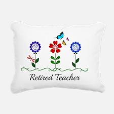 Retired Teacher, Flowers Rectangular Canvas Pillow