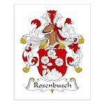 Rosenbusch Family Crest Small Poster