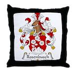 Rosenbusch Family Crest Throw Pillow