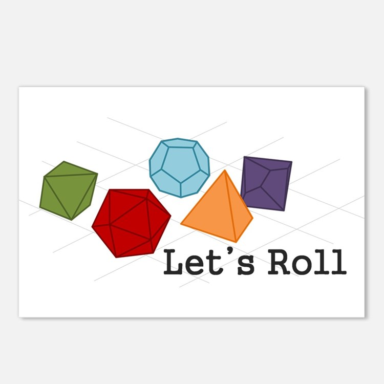 Lets Roll Postcards (Package of 8)