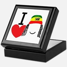 Heart Rasta Keepsake Box