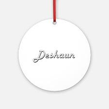 Deshaun Classic Style Name Ornament (Round)