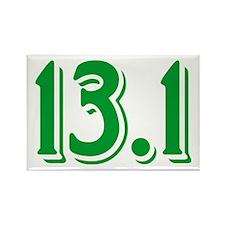 13.1 Half Marathon Rectangle Magnet