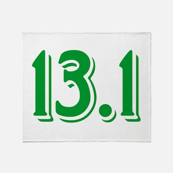 13.1 Half Marathon Throw Blanket