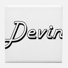 Devin Classic Style Name Tile Coaster