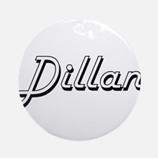 Dillan Classic Style Name Ornament (Round)