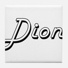 Dion Classic Style Name Tile Coaster