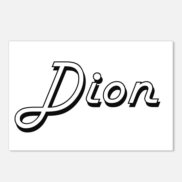 Dion Classic Style Name Postcards (Package of 8)