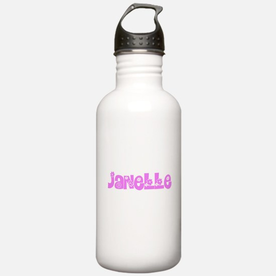 Janelle Flower Design Water Bottle