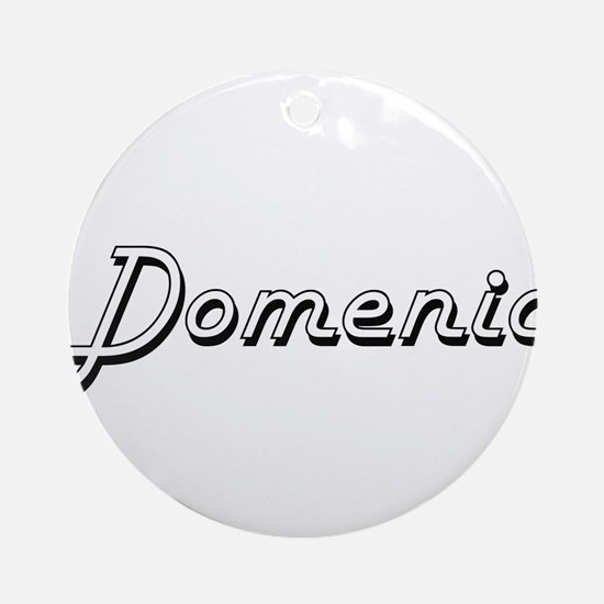 Domenic Classic Style Name Ornament (Round)