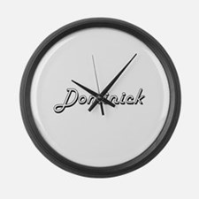 Dominick Classic Style Name Large Wall Clock