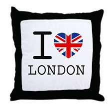 Cute London Throw Pillow