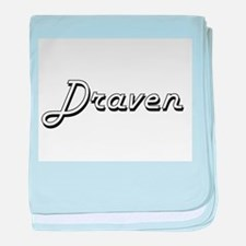 Draven Classic Style Name baby blanket