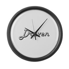 Draven Classic Style Name Large Wall Clock