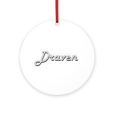 Draven Classic Style Name Ornament (Round)