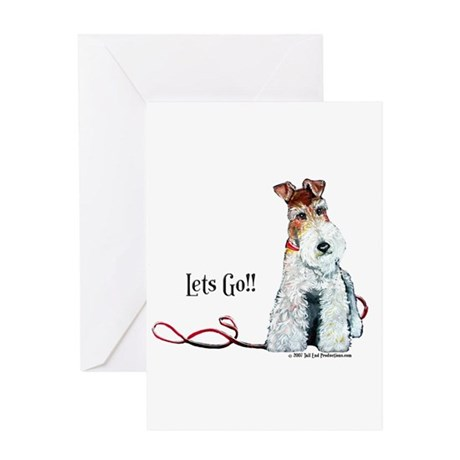 Fox Terrier Walk Greeting Card