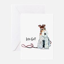 Fox Terrier Walk Greeting Cards (Pk of 10)