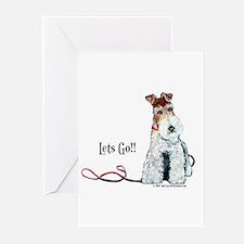 Fox Terrier Walk Greeting Cards (Pk of 20)