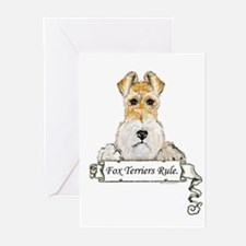 Fox Terriers Rule Greeting Cards (Pk of 10)