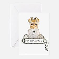 Fox Terriers Rule Greeting Cards (Pk of 20)
