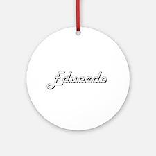 Eduardo Classic Style Name Ornament (Round)