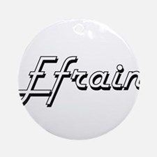 Efrain Classic Style Name Ornament (Round)